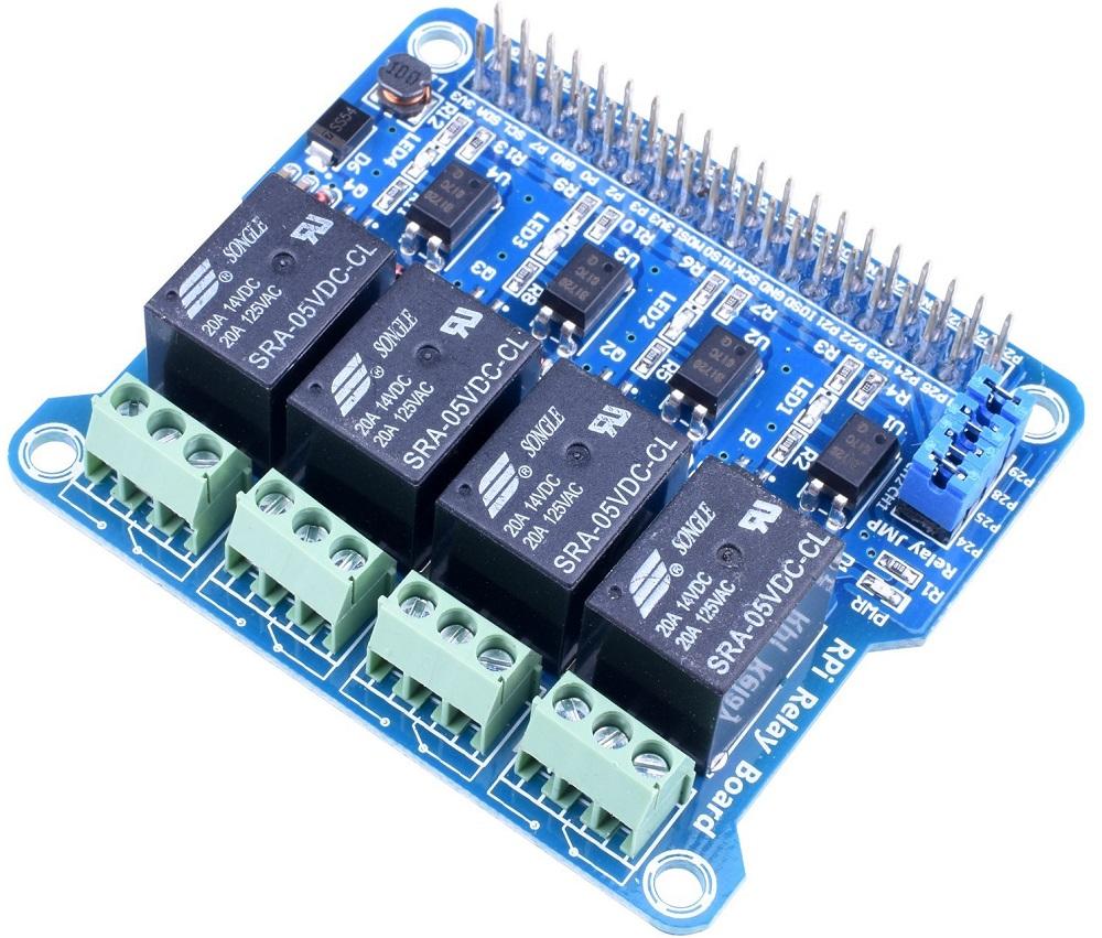 Điều khiển shield relay sử dụng Raspberry Pi