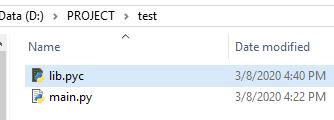 Giấu source code Python
