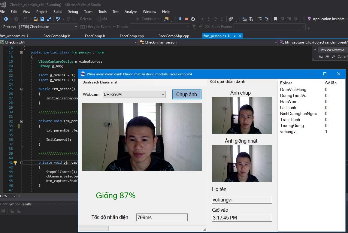 Source code phần mềm nhận diện khuôn mặt C#